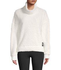fleece funnel-neck pullover