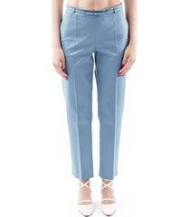 red valentino cotton blend trousers