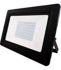 refletor led deep fit 100w bivolt preto 6500k luz branca