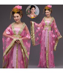 costume dress flower fairy cos hanfu tang princess royal stage costumes
