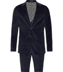 angers, suit set kostym blå bruun & stengade