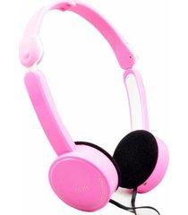 fe-111 plegables audífonos para juegos con cable-rosado