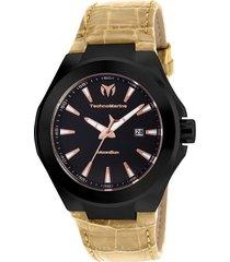 reloj technomarine beige modelo tm-1170hr para hombres, colección moonsun