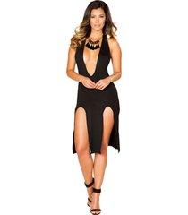 mini dress with high slit detail clubbing dress