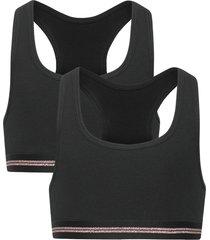 bustier night & underwear underwear tops svart schiesser