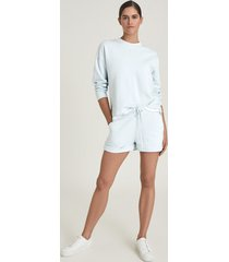 reiss annie - loungewear jersey shorts in blue, womens, size xl