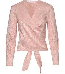luna blouse 11402 blouse lange mouwen roze samsøe samsøe