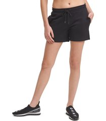 dkny sport logo tab shorts, size small in black at nordstrom
