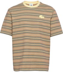 men s tee-shirt t-shirts short-sleeved beige lacoste live