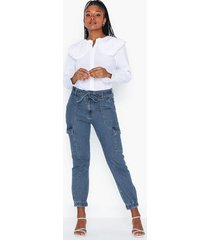 only onlpatricia cargo md blu dnm jeans byxor
