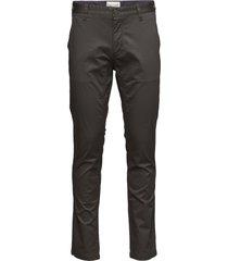 flash, chinos slim chino broek zwart bruun & stengade