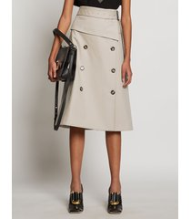 proenza schouler trench cotton skirt khaki/neutrals 6