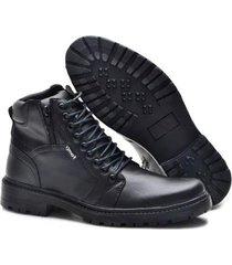 bota coturno form's conforto macia leve zíper masculino - masculino