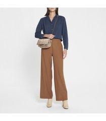 camicetta-chemisier in cotone e lana