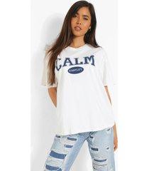 oversized overdye calm t-shirt, ecru