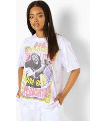 gelicenseerd tie dye bob marley t-shirt, lilac