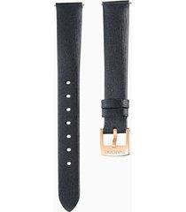 cinturino per orologio 14mm, nero, placcato color oro rosa