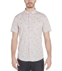 sovereign code men's stream regular-fit hibiscus-print poplin shirt