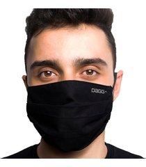máscara protetora dupla face reutilizável lavável - cinza/preto