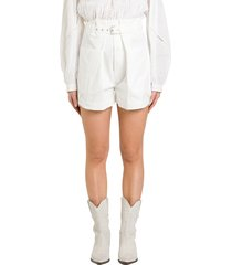 isabel marant ike cargo shorts woth high waist and belt