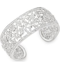 crystal floral cuff bracelet