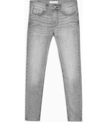 mens grey denim spray on skinny jeans
