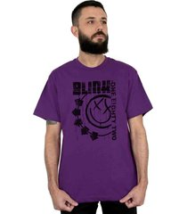 camiseta 182life blink one eighty two roxo - branco/rosa/roxo - masculino - dafiti