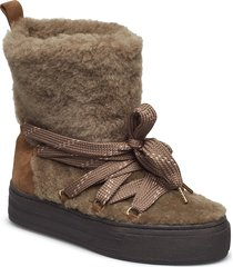 gale, 456 gale boots shoes boots ankle boots ankle boots flat heel brun stine goya