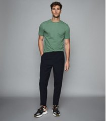 reiss bless - crew neck t-shirt in apple, mens, size l