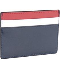 bespoke men's colorblocked nappa leather card case