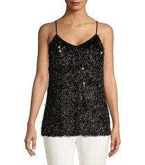 averie fring sequin tank top