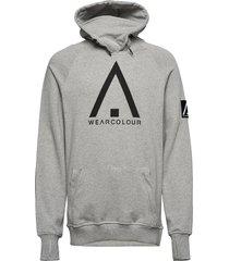 bowl hood hoodie trui grijs wearcolour