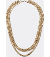 river island mens gold 3 row gold chain necklace