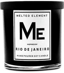 melted element rio de janeiro premium soy candle, 11-oz.
