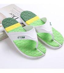 sandalias de tiras de playa planas a rayas de los chanclas hombre