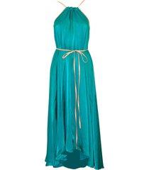 sukienka turkusowa midi