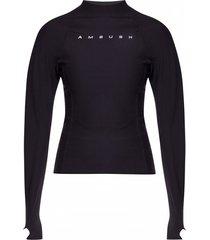 branded long-sleeved top