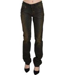 washed low waist slim fit denim pants jeans