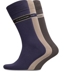ck 3pk bamboo band logo 004 underwear socks regular socks grå calvin klein