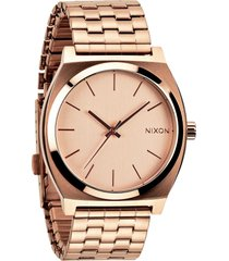 nixon the time teller watch, 37mm in rose gold at nordstrom