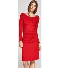 sukienka koktajlowa czerwona