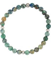 nialaya jewelry round beaded bracelet - green