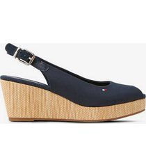 espadrillos iconic elba sling back wedge