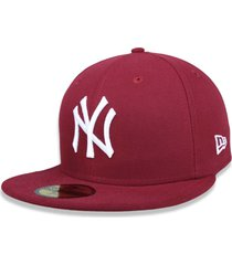boné new era 5950 new york yankees aba reta vinho