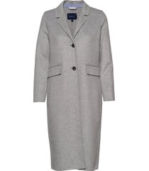 d1. double faced coat wollen jas lange jas grijs gant