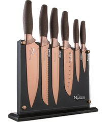 new england cutlery 7-pc. titanium coated cutlery set