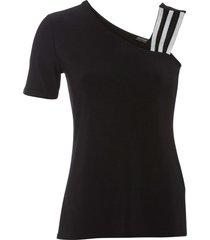 maglia monospalla (nero) - bodyflirt