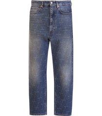 balenciaga logo all-over jeans