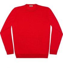 maglione da uomo, lanieri, extra fine rosso fuoco, quattro stagioni   lanieri