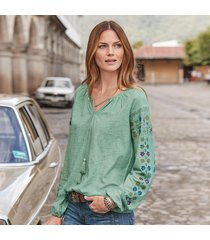 blossoms embroidered top